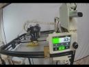 Первая тестовая печать PLA пластиком на новом принтере.
