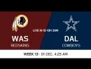 NFL 2017 / W13 / Washington Redskins - Dallas Cowboys / CG / EN