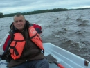 На Вуоксе с мотором или трое в лодке считая собаку (август 2017).