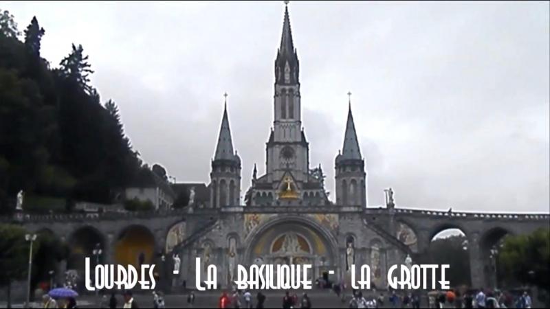 Lourdes - La basilique - la grotte