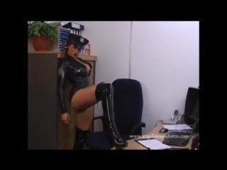Vanessa Upton latex rubber uniform  PVC boots -