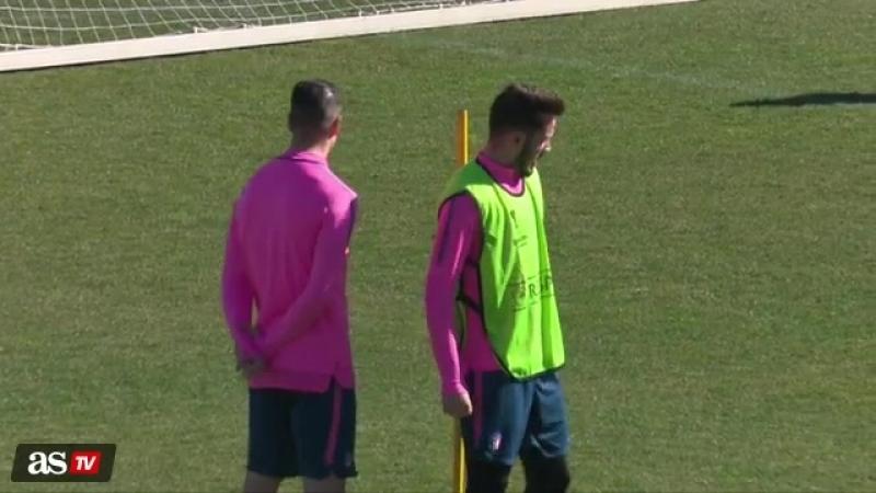 Fernando Torres / Último entreno del Atleti antes del trámite ante el Copenhague