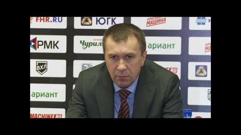 Пресс-конференция после матча Челмет - ХК Рубин