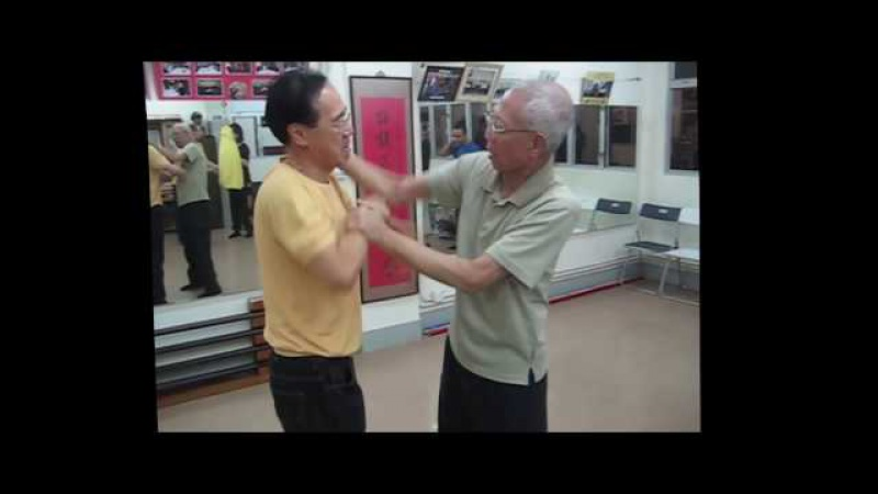 Chu Shong Tin Chisau with a late Ip Man student - Wing Chun legend!