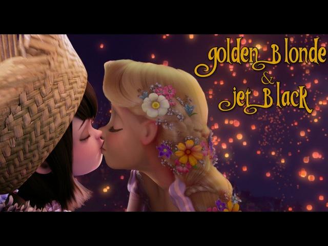 Golden Blond and Jet Black {FEMSLASH}