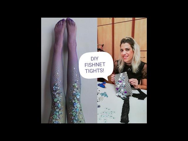 Diy Fishnet TightsΦτιάξτε τo καλσόν - κόσμημα