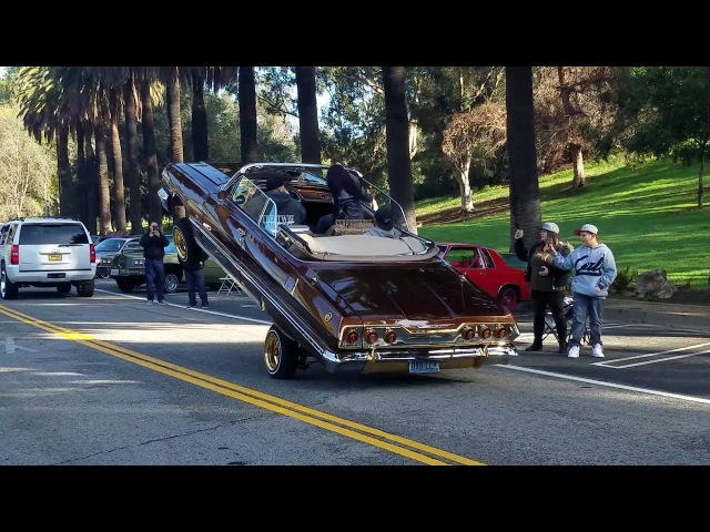 Lowriders Crusing at Elysian Park In LA