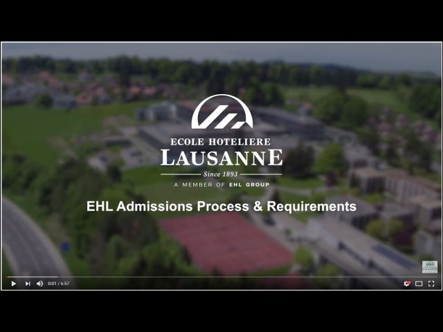 EHL Admissions process requirements