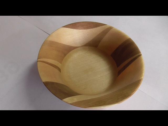 Клиновое точение. Деревянная посуда.