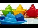 Игры для малышей - Играем с лодочками и учим цвета - Диди тв