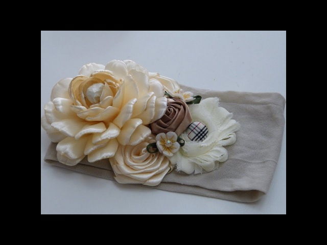 Hermosas y FAciles Flores de liston RAso o Satin Tiaras Bautizo Bebe