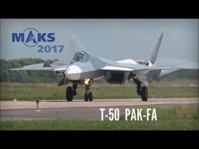 MAKS 2017 - Close encounter with T-50 and flight demo! - HD 50fps
