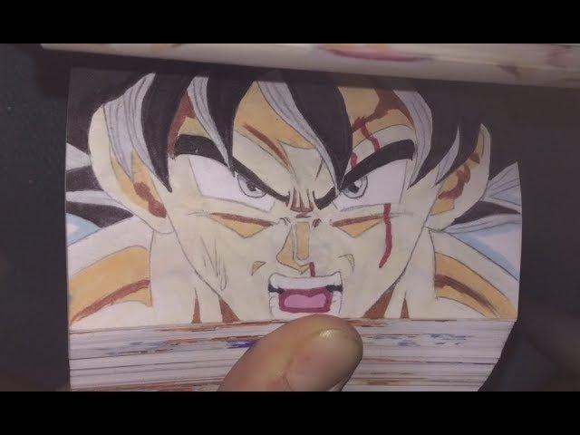 GOKU ULTRA INSTINCT VS JIREN Dragon Ball SUPER Flipbook Animation