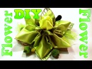 DIY ribbon flower tutorial how to make Kanzashi flower hair clip / Канзаши мастер класс Цветок