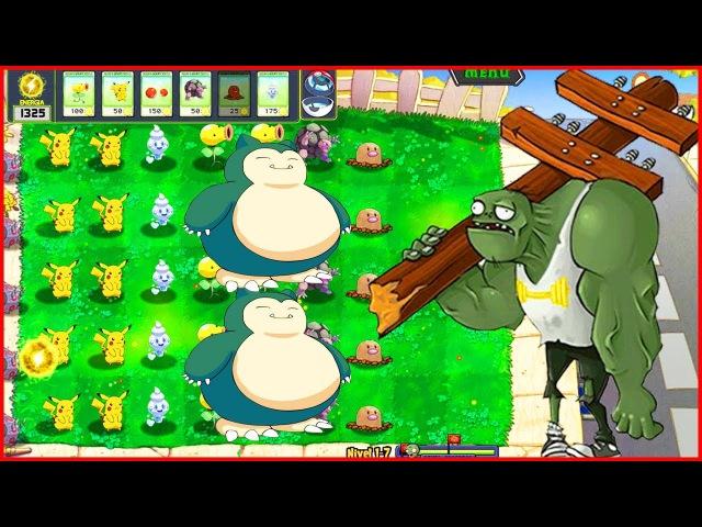 Покемоны го напали на растение против зомби Pokemon go plants vs zombie от Фаника 7