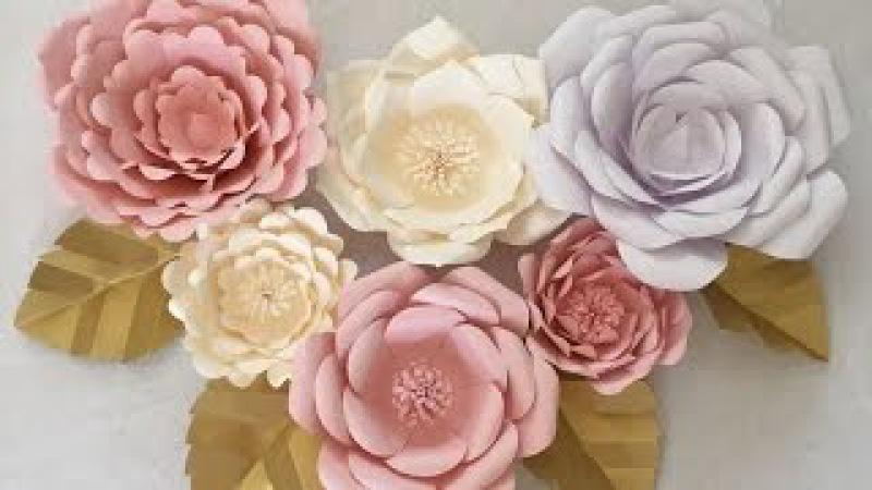 Como hacer flores de papel gigantes / Como Hacer un Mural de Flores de Papel Rosa