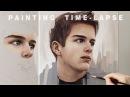 "PORTRAIT PAINTING TIME LAPSE Intuition"" Oil on canvas"