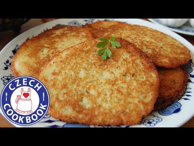 Чешские картофельные блины деруны или драники Potato Latkes Recipe Bramborák Czech Cookbook