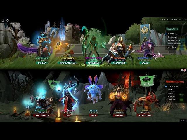 Warlocks Gaming vs Team Sesh   Bo1 Lose Bracket   Arena Tournament   24.09.2017