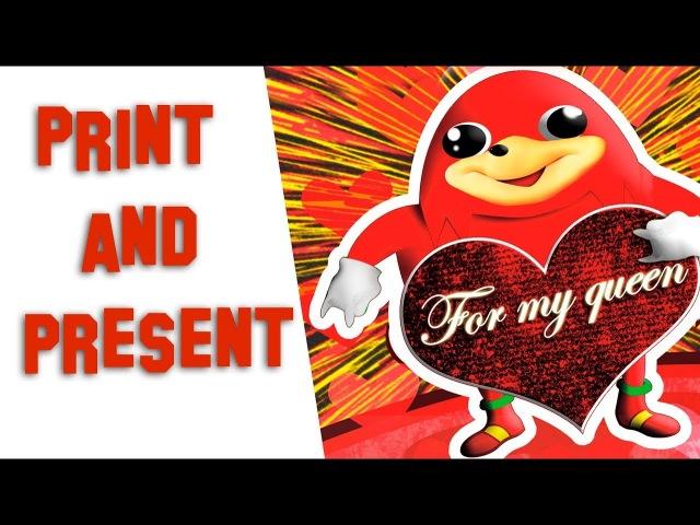UGANDA KNUCKLES ANIMATED | DIY Valentine Card