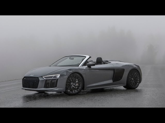 LOST IN THE FOG - 2018 AUDI R8 V10 SPYDER (new Audi Sport badge, Nardo Gray, )
