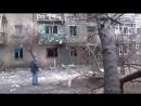 Стаханов.21 января,2015.Обстрел РСЗО Ураган видео Оксаны Будковой