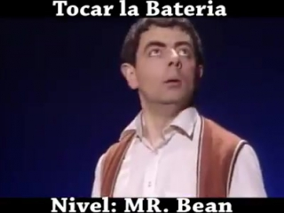Игра на барабанах. Уровень - Мистер Бин. Tocar la bateria. Nivel MR. Bean.
