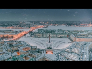 Winter Saint Petersburg Russia 6K. Shot on Zenmuse X7 __ Зимний Петербург, аэросъёмка