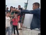 Алексей Панин на съемках клипа Стаса Костюшкина в Анапе