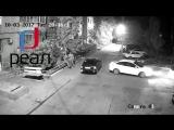 Авария во дворе  по адресу Бориса Алексеева 43