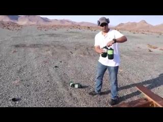 Отличный выстрел с крупнокалиберной снайперской винтовки