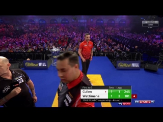 Joe Cullen vs Jermaine Wattimena (PDC World Darts Championship 2018 / Round 1)