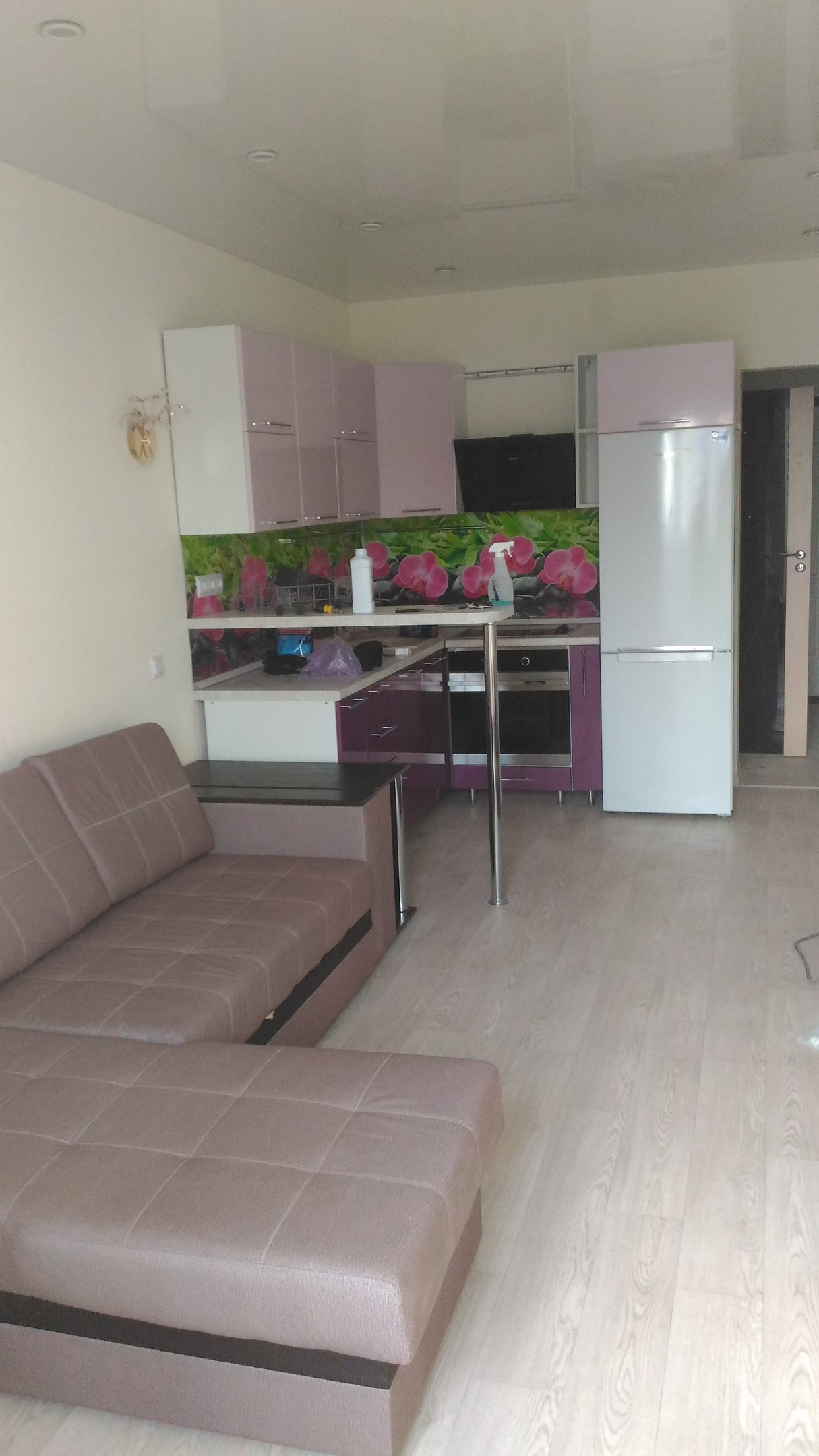 Квартира студия в Новосибирске в панельном доме 14/17эт.