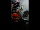 Правильный вечер после работы чай, кальян и саксофон ;)