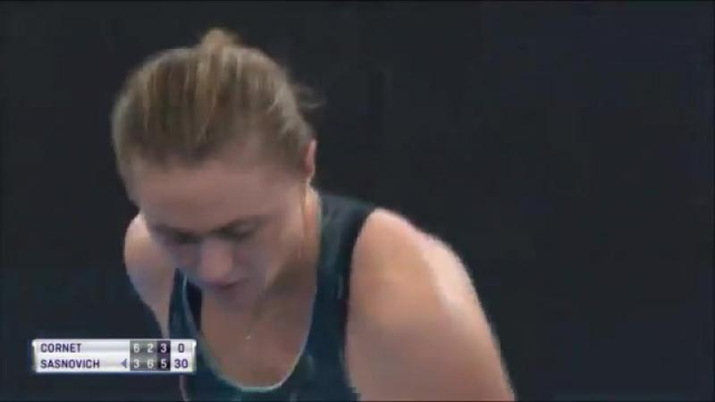 Alize Cornet vs Aliaksandra Sasnovich Full Match HD Quarterfinals Brisbane Int