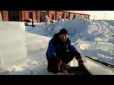❄ Строительство ледового городка в Омской крепости ⛄