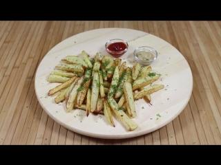 Готовим картошку фри без масла. Получается как в McDonalds. Очень вкусно!