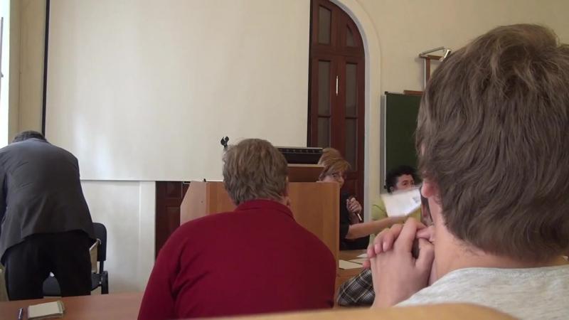 Встреча с ректора МГУТУ Ивановой В.Н. со студентами присоединенного РГУИТП 22-09-14