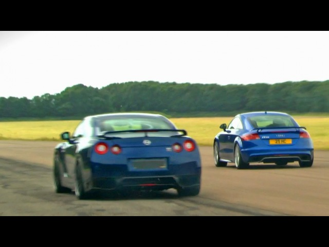 Audi TT that beats Nissan GT-Rs?? - Launch control and drag races on drag strip [HD]