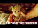 BABY GROOT Funny Memorable Moments - Guardians Of The Galaxy Vol.2 [HD]