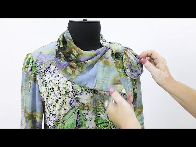 Как сделать декоративный галстук французская косынка с петлей для блузки с длинным рукавом