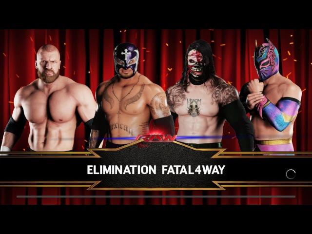 SBW Raw - Rey Mysterio vs Snake Eyes vs Triple H vs Sin Cara