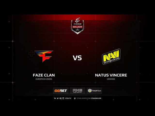 FaZe Clan vs Natus Vincere - New Challengers Stage - ELEAGUE Major Boston 2018