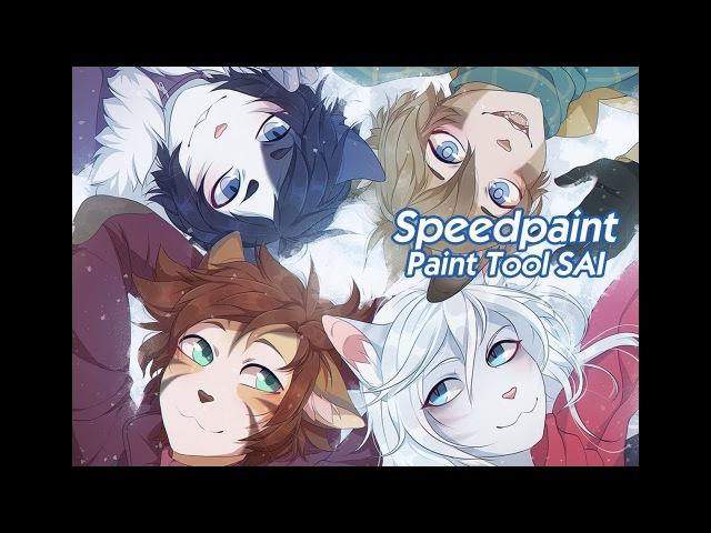Дети звездной пыли | Stardust Kids Speedpaint [Collab with Fumiko]