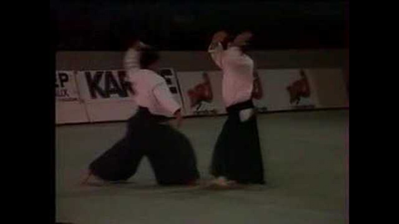 Aikido and Aikibudo at Bercy, Paris 1989
