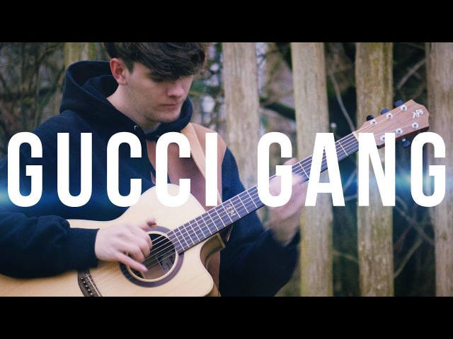 Gucci Gang played on an Acoustic Guitar