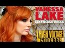 Vanessa Lake - Tattooed Redhead in a Sexy Black Dress
