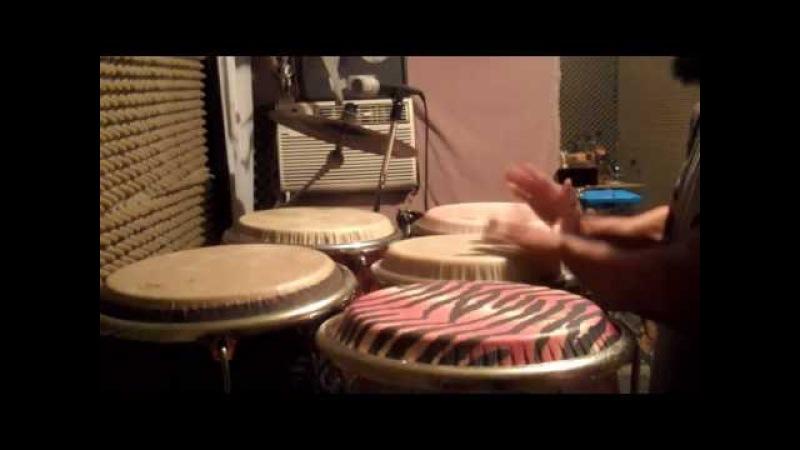 Paoli Mejias conga solo slap and bass sound with both hands practica de bajos y secos