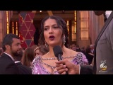 Salma Hayek Pinault on the Oscars 2018 Red Carpet