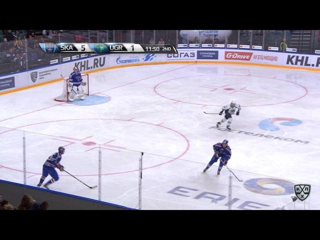 Моменты из матчей КХЛ сезона 16/17 • Гол. 6:1. Широков Сергей (СКА) забрасывает шайбу в ворота соперника 23.09